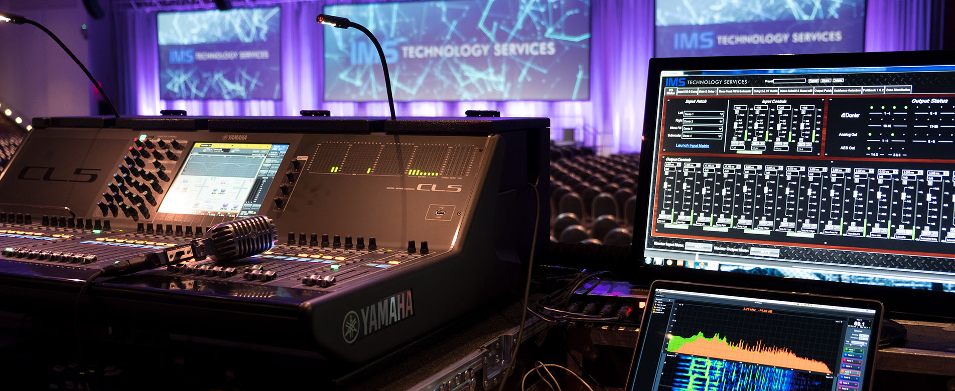 event staging - audio, video, lighting