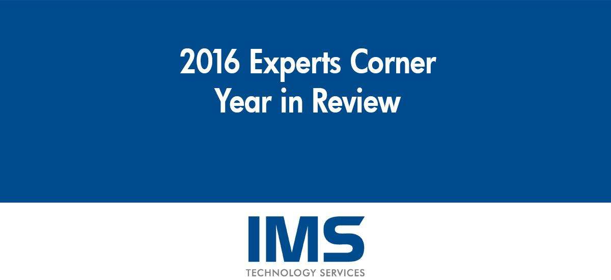 2016 Year in Review: Experts Corner