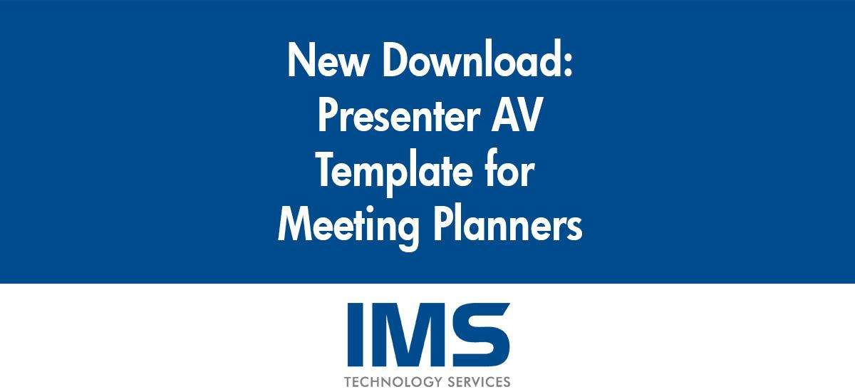 New Template for Meeting Planners