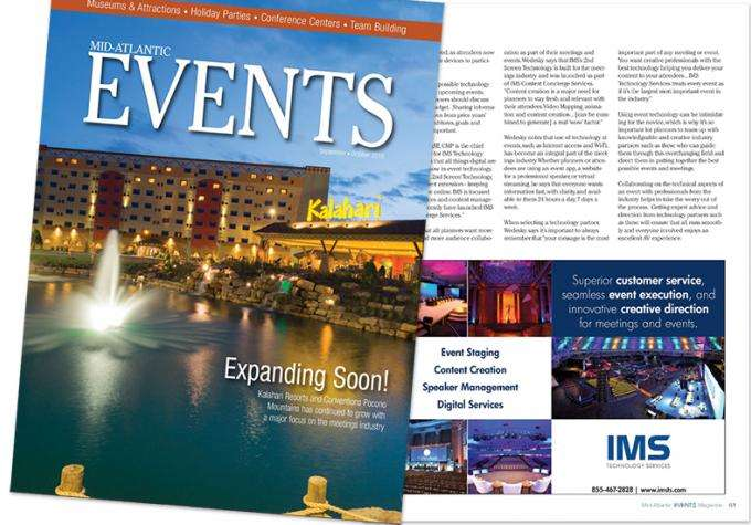 Technology Update: IMS In Mid-Atlantic Events Magazine